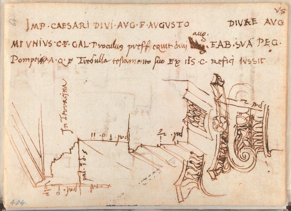 GDSU 403 A, Alzato del Tempio, pagina precedente nel taccuino di viaggio