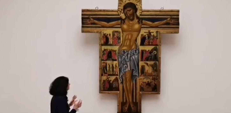 Due Croci dipinte con Storie della Passione