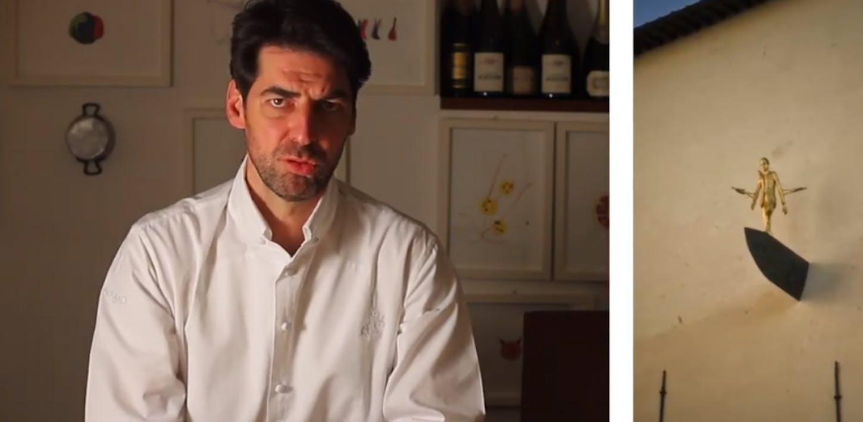 I Passi d'oro di Roberto Barni ispirazione per un piatto dorato