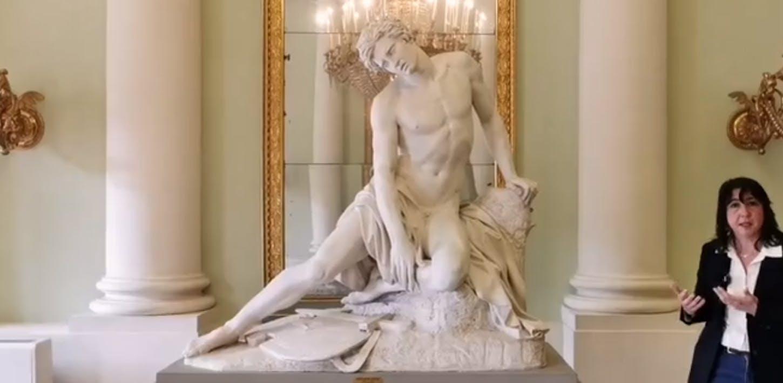 Le sculture della Sala da Ballo della Galleria d'Arte Moderna