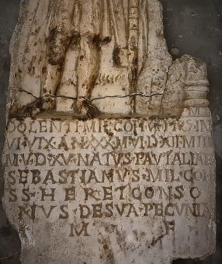 Funerary stele of the Praetorian Guard Dolens