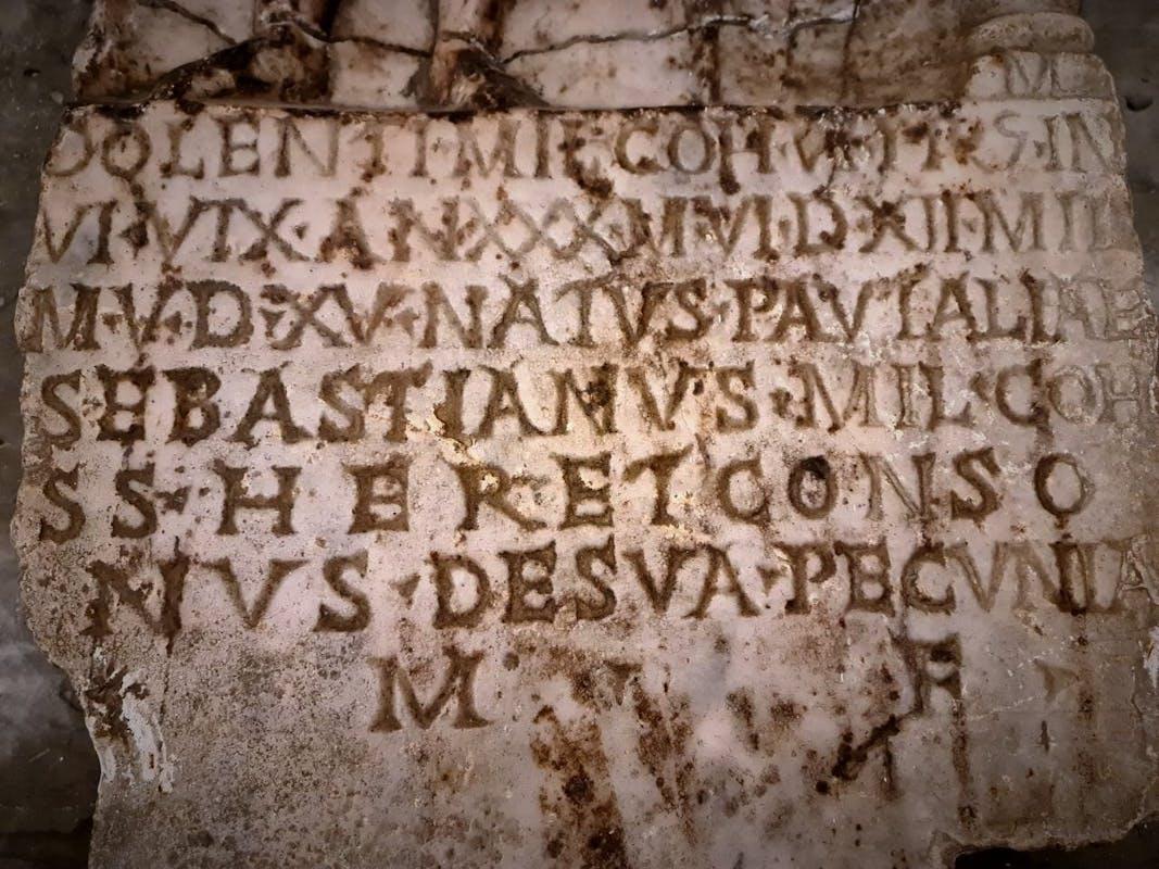 Iscrizione stele del pretoriano Dolens
