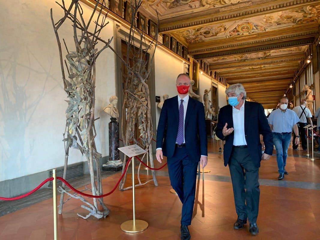 Il Direttore Eike Schmidt con Giuseppe Penone