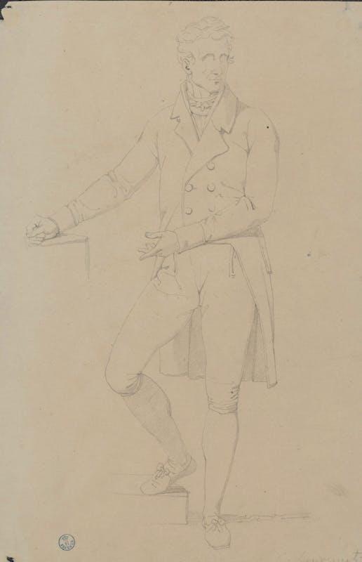 Studio per la figura di Antonio Canova Matita nera su carta bianca Firenze, Gabinetto dei Disegni e Stampe degli Uffizi, Inv.n. 20964F