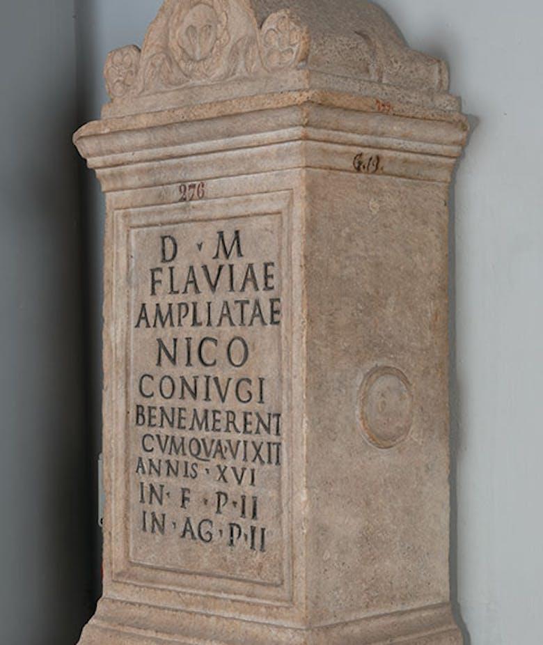 Altar in honour of Flavia Ampliata