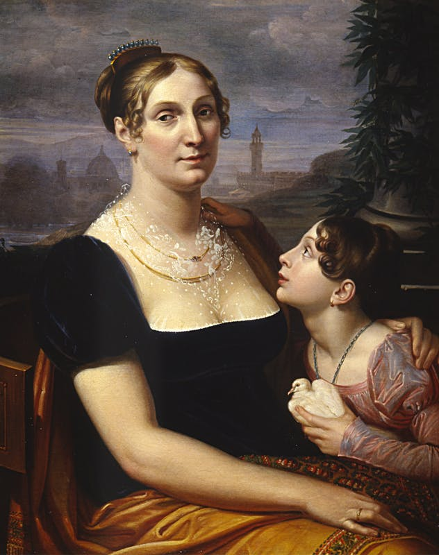 Giuseppe Bezzuoli, Elisa Baciocchi Bonaparte con la figlia Elisa Napoleona