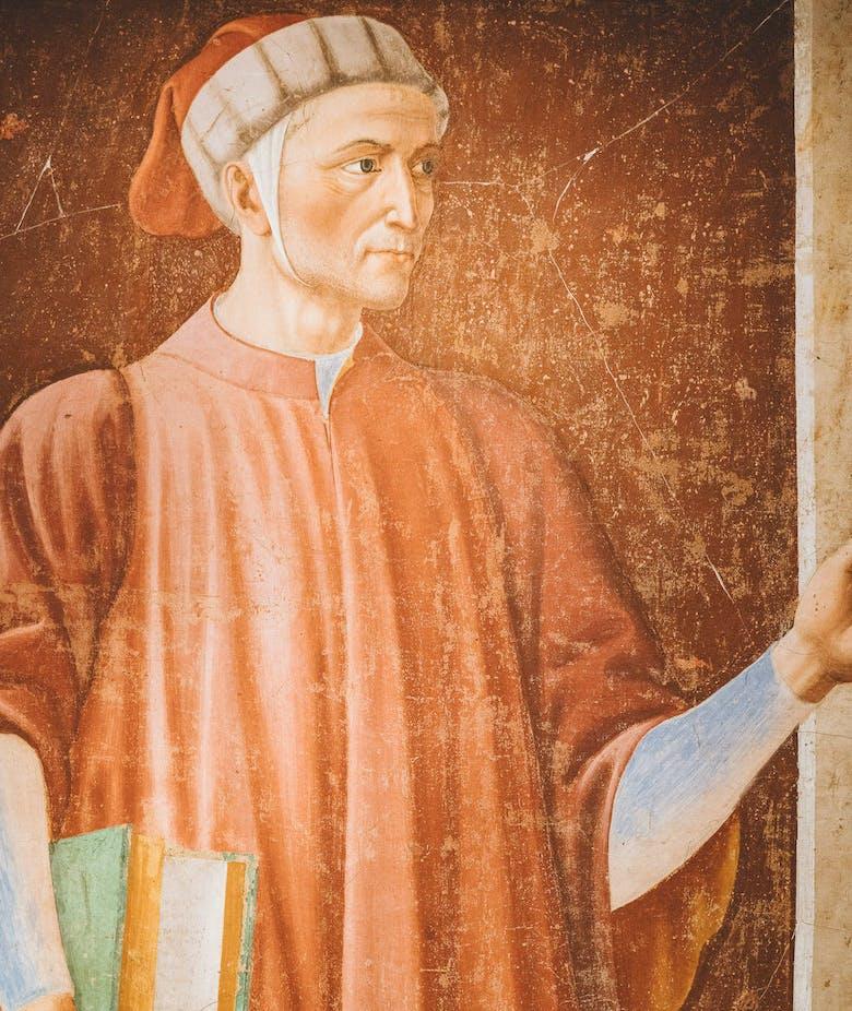 Il ritratto di Dante ad opera di Andrea del Castagno esposto nel borgo natale del pittore