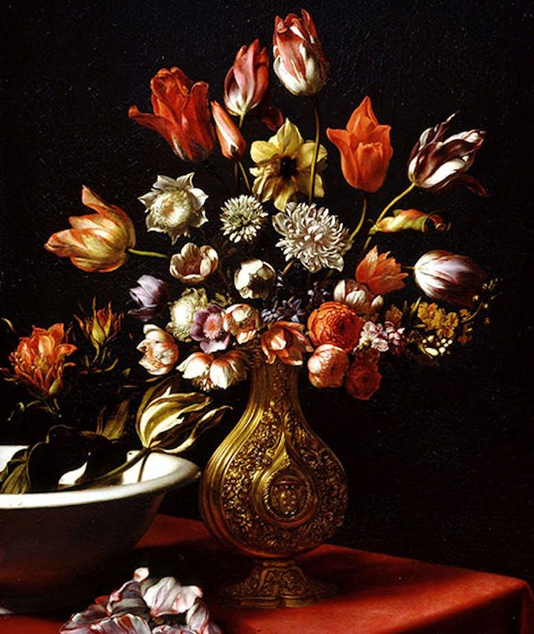 Vaso di fiori e bacile