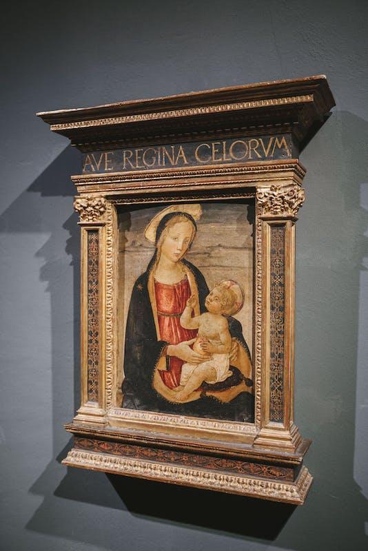 Maestro di San Miniato, Madonna con bambino, 1465, Tempera su tavola, Gallerie degli Uffizi