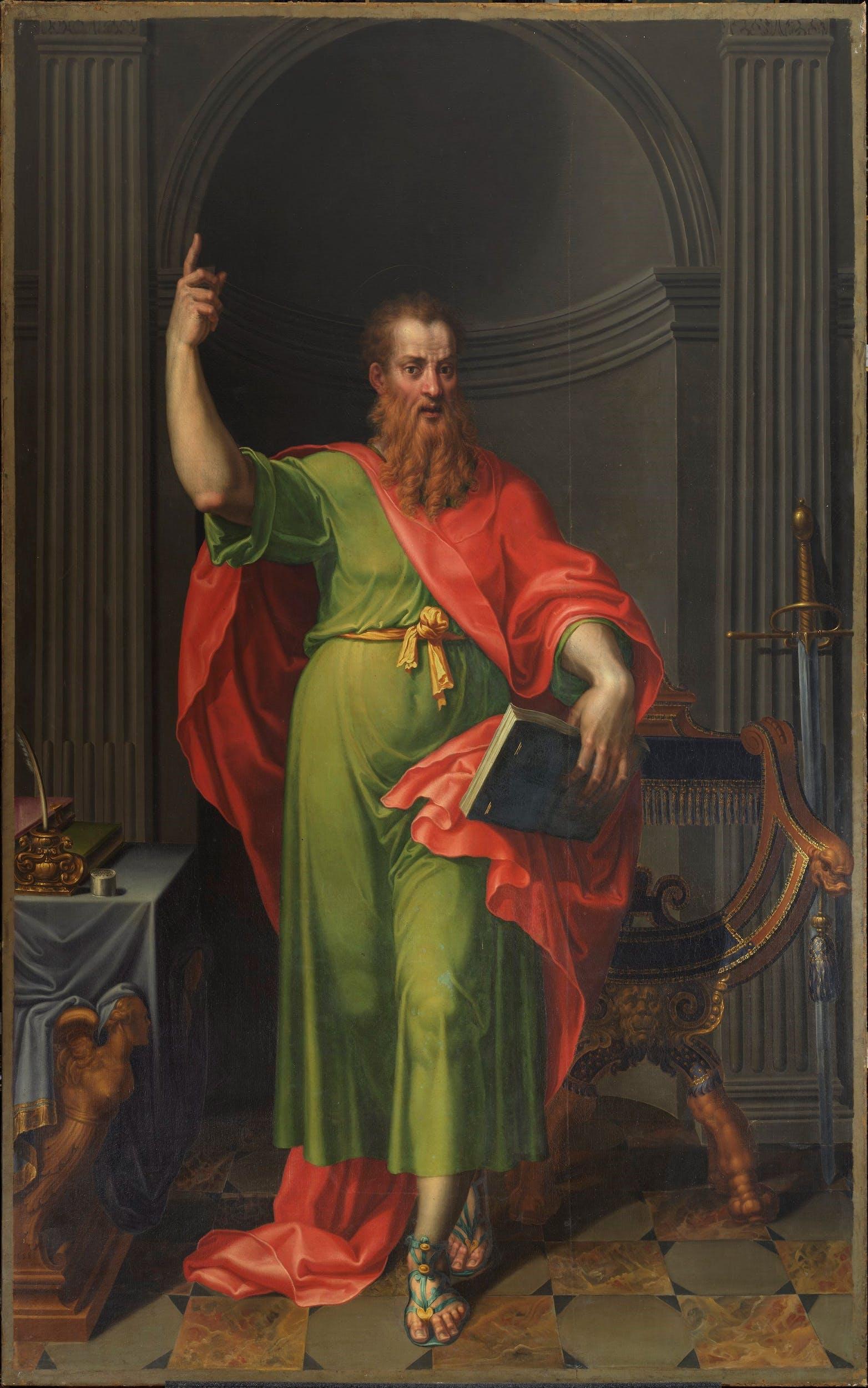 Pellegrino Tibaldi (1527 o 1530/1531 – 1596)  e Giovanni Pietro Gnocchi (1553 circa – 1609),  San Paolo,  275 x 182 cm, olio su tela,1585