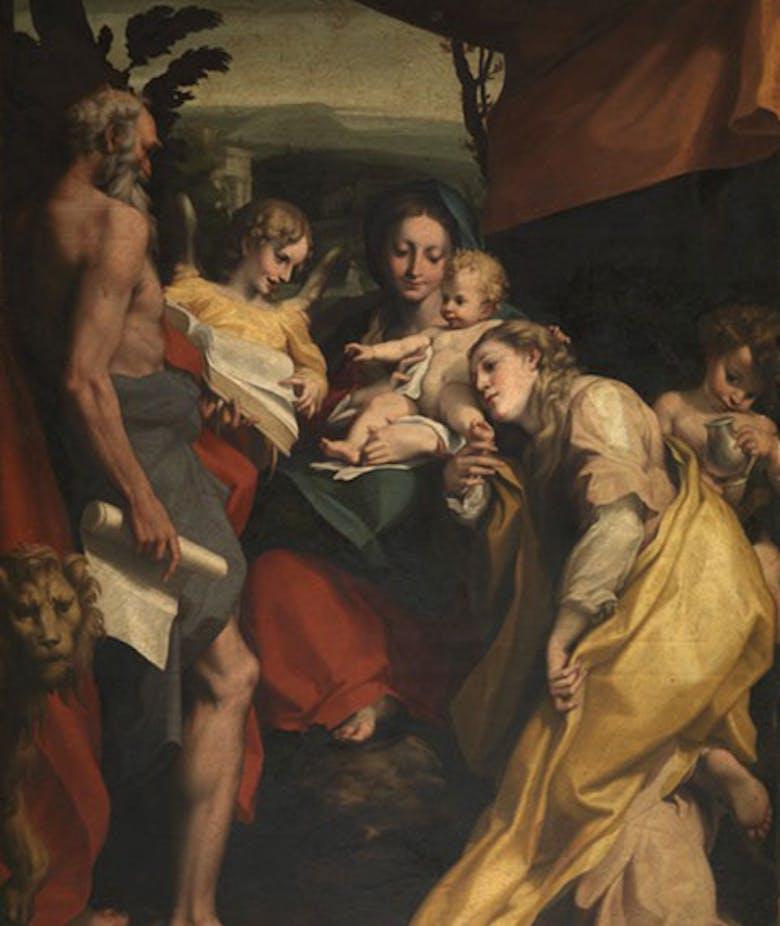 Copia della Madonna di San Girolamo di Correggio