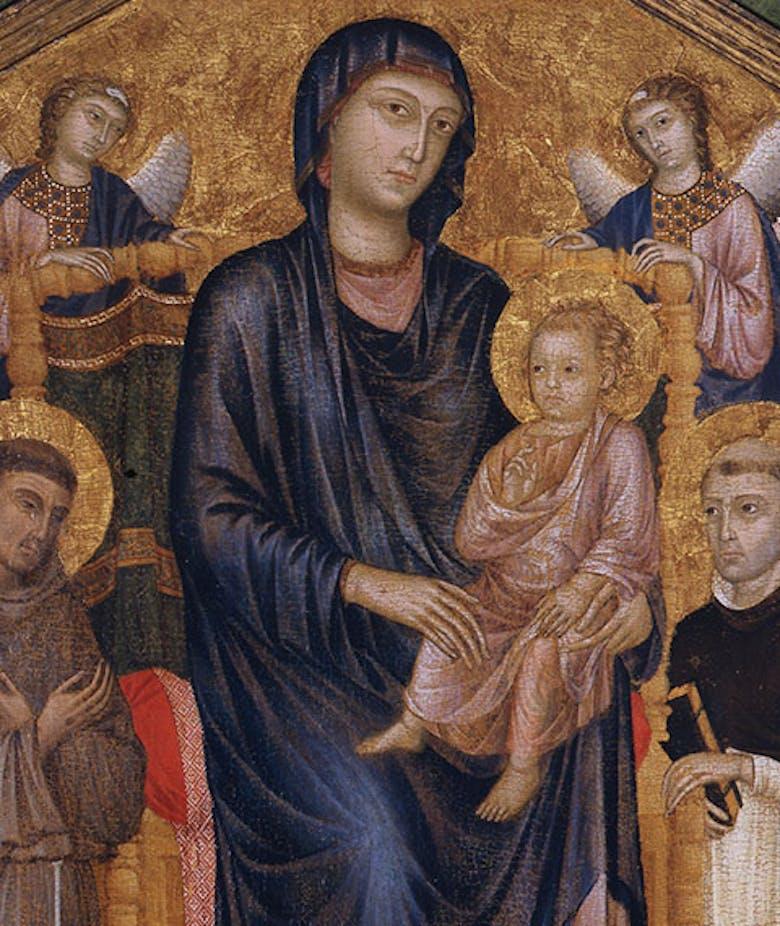 Madonna col Bambino in trono, due angeli e i santi Francesco e Domenico