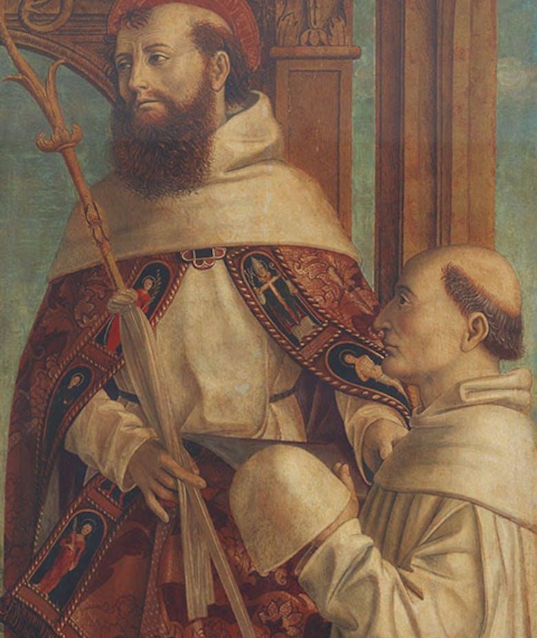 Santo monaco e donatore
