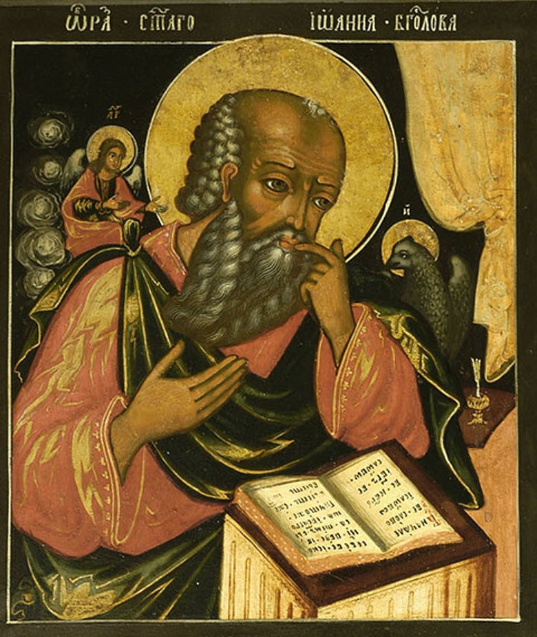 Apostle John the Theologian in Silent Contemplation