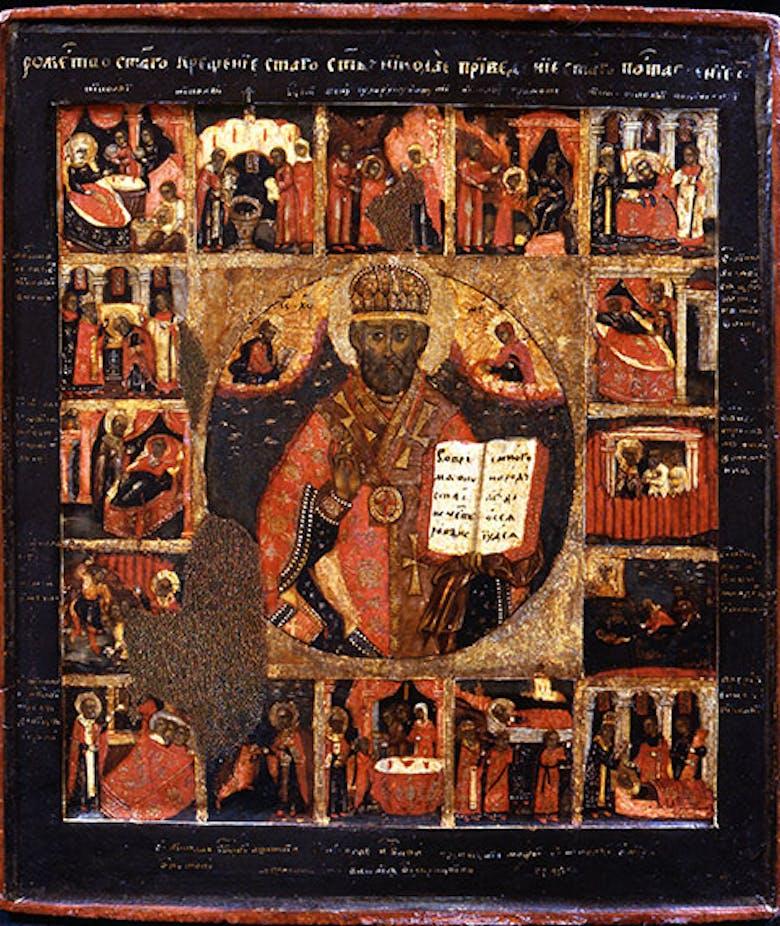 Icona di San Nicola Taumaturgo, con scene della vita