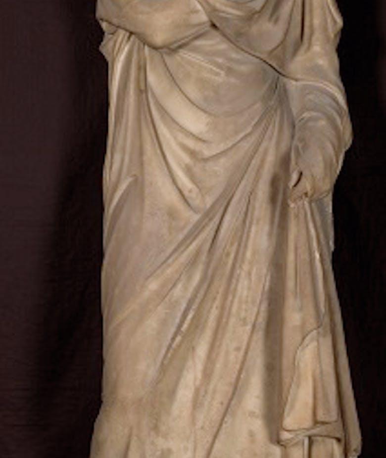 """""""Grande Ercolanese"""" type female statue"""